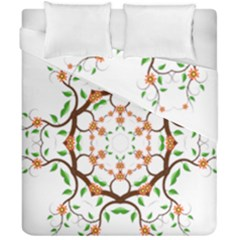 Floral Tree Leaf Flower Star Duvet Cover Double Side (california King Size)