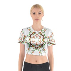 Floral Tree Leaf Flower Star Cotton Crop Top by Alisyart