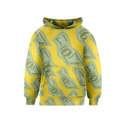 Money Dollar $ Sign Green Yellow Kids  Pullover Hoodie by Alisyart
