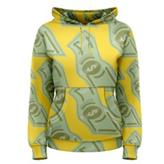 Money Dollar $ Sign Green Yellow Women s Pullover Hoodie