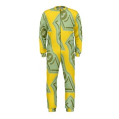 Money Dollar $ Sign Green Yellow Onepiece Jumpsuit (kids)