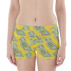 Money Dollar $ Sign Green Yellow Boyleg Bikini Wrap Bottoms by Alisyart