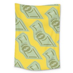 Money Dollar $ Sign Green Yellow Large Tapestry by Alisyart