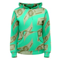Money Dollar $ Sign Green Women s Pullover Hoodie