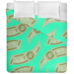 Money Dollar $ Sign Green Duvet Cover Double Side (california King Size) by Alisyart