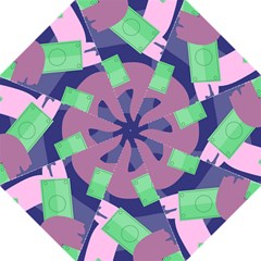 Money Dollar Green Purple Pink Golf Umbrellas by Alisyart
