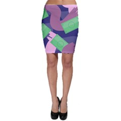 Money Dollar Green Purple Pink Bodycon Skirt by Alisyart