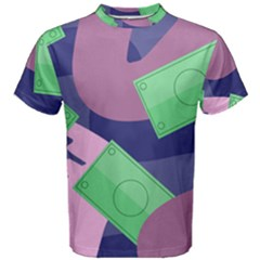 Money Dollar Green Purple Pink Men s Cotton Tee