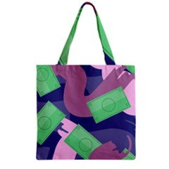 Money Dollar Green Purple Pink Grocery Tote Bag by Alisyart