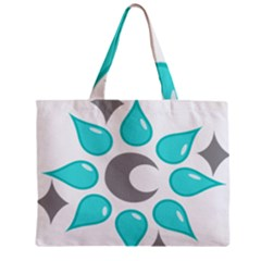 Moon Water Star Grey Blue Mini Tote Bag by Alisyart