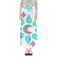 Moon Water Star Grey Blue Maxi Skirts by Alisyart