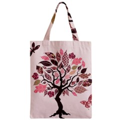 Tree Butterfly Insect Leaf Pink Classic Tote Bag by Alisyart