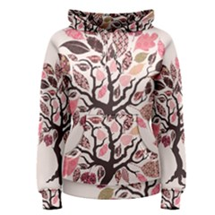 Tree Butterfly Insect Leaf Pink Women s Pullover Hoodie