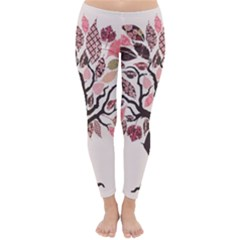 Tree Butterfly Insect Leaf Pink Classic Winter Leggings
