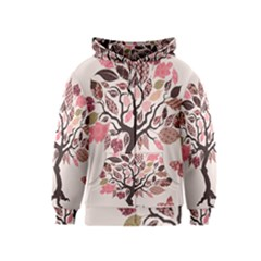 Tree Butterfly Insect Leaf Pink Kids  Zipper Hoodie