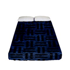Woven1 Black Marble & Blue Stone (r) Fitted Sheet (full/ Double Size) by trendistuff
