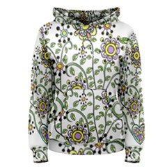 Frame Flower Floral Sun Purple Yellow Green Women s Pullover Hoodie