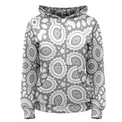 Scope Random Black White Women s Pullover Hoodie