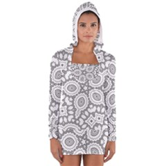 Scope Random Black White Women s Long Sleeve Hooded T Shirt