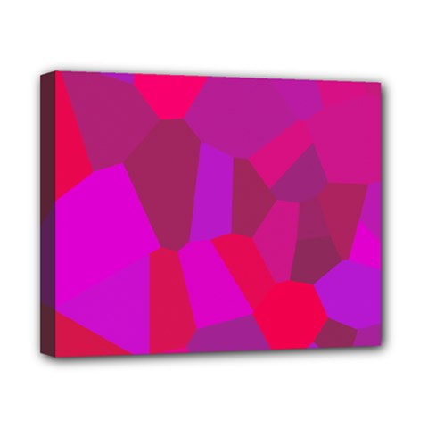 Voronoi Pink Purple Canvas 10  X 8