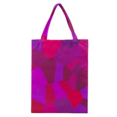 Voronoi Pink Purple Classic Tote Bag by Alisyart