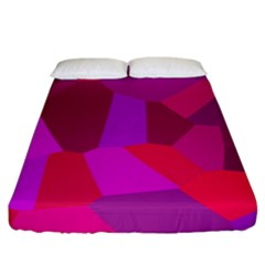 Voronoi Pink Purple Fitted Sheet (king Size) by Alisyart