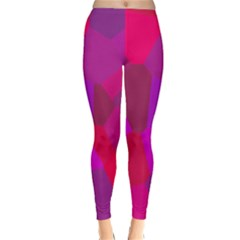 Voronoi Pink Purple Classic Winter Leggings