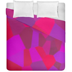 Voronoi Pink Purple Duvet Cover Double Side (california King Size) by Alisyart