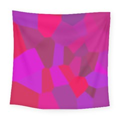 Voronoi Pink Purple Square Tapestry (large) by Alisyart