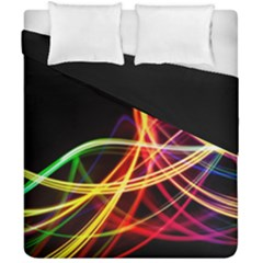 Vortex Rainbow Twisting Light Blurs Green Orange Green Pink Purple Duvet Cover Double Side (california King Size)