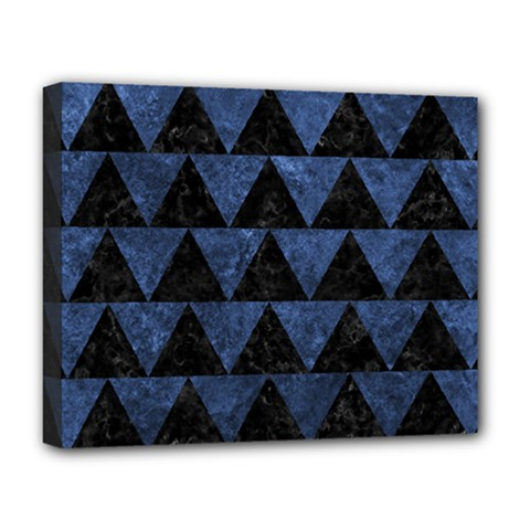 Triangle2 Black Marble & Blue Stone Deluxe Canvas 20  X 16  (stretched) by trendistuff