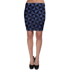 Triangle1 Black Marble & Blue Stone Bodycon Skirt by trendistuff