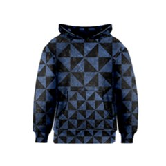 Triangle1 Black Marble & Blue Stone Kids  Pullover Hoodie by trendistuff