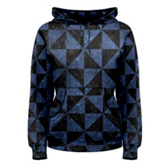 Triangle1 Black Marble & Blue Stone Women s Pullover Hoodie by trendistuff