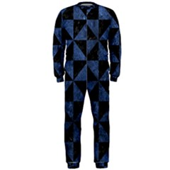 Triangle1 Black Marble & Blue Stone Onepiece Jumpsuit (men) by trendistuff