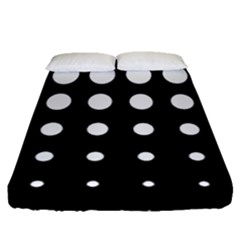 Circle Masks White Black Fitted Sheet (queen Size) by Alisyart