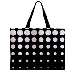 Circle Masks White Black Zipper Mini Tote Bag by Alisyart