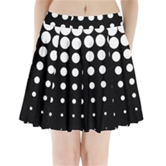 Circle Masks White Black Pleated Mini Skirt by Alisyart