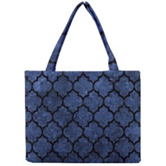 Tile1 Black Marble & Blue Stone (r) Mini Tote Bag by trendistuff