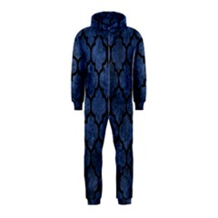Tile1 Black Marble & Blue Stone (r) Hooded Jumpsuit (kids) by trendistuff