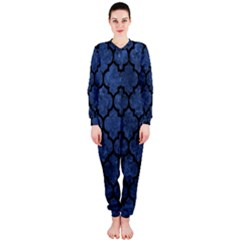 Tile1 Black Marble & Blue Stone (r) Onepiece Jumpsuit (ladies) by trendistuff