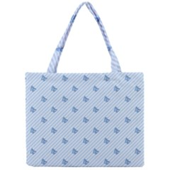 Blue Butterfly Line Animals Fly Mini Tote Bag by Alisyart