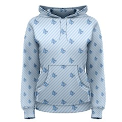 Blue Butterfly Line Animals Fly Women s Pullover Hoodie