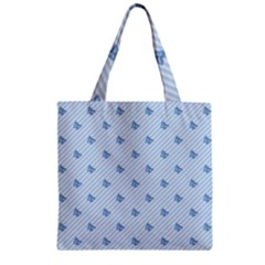 Blue Butterfly Line Animals Fly Zipper Grocery Tote Bag by Alisyart