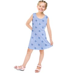 Blue Butterfly Line Animals Fly Kids  Tunic Dress by Alisyart