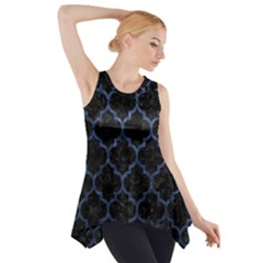 Tile1 Black Marble & Blue Stone Side Drop Tank Tunic by trendistuff