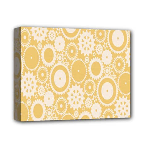 Wheels Star Gold Circle Yellow Deluxe Canvas 14  X 11