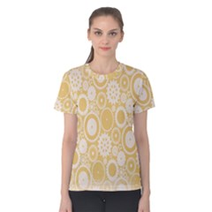 Wheels Star Gold Circle Yellow Women s Cotton Tee by Alisyart