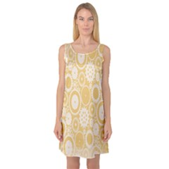 Wheels Star Gold Circle Yellow Sleeveless Satin Nightdress by Alisyart