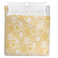 Wheels Star Gold Circle Yellow Duvet Cover Double Side (queen Size)